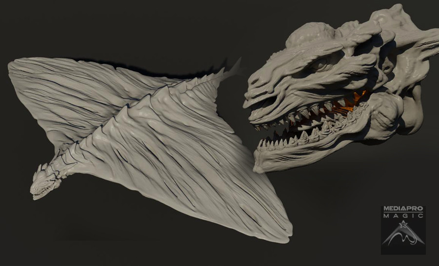 Fire dragon model